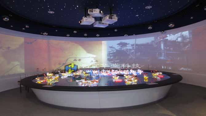 互动多媒体_华堂科技顺利完工中国海洋石油工业展览馆多媒体互动